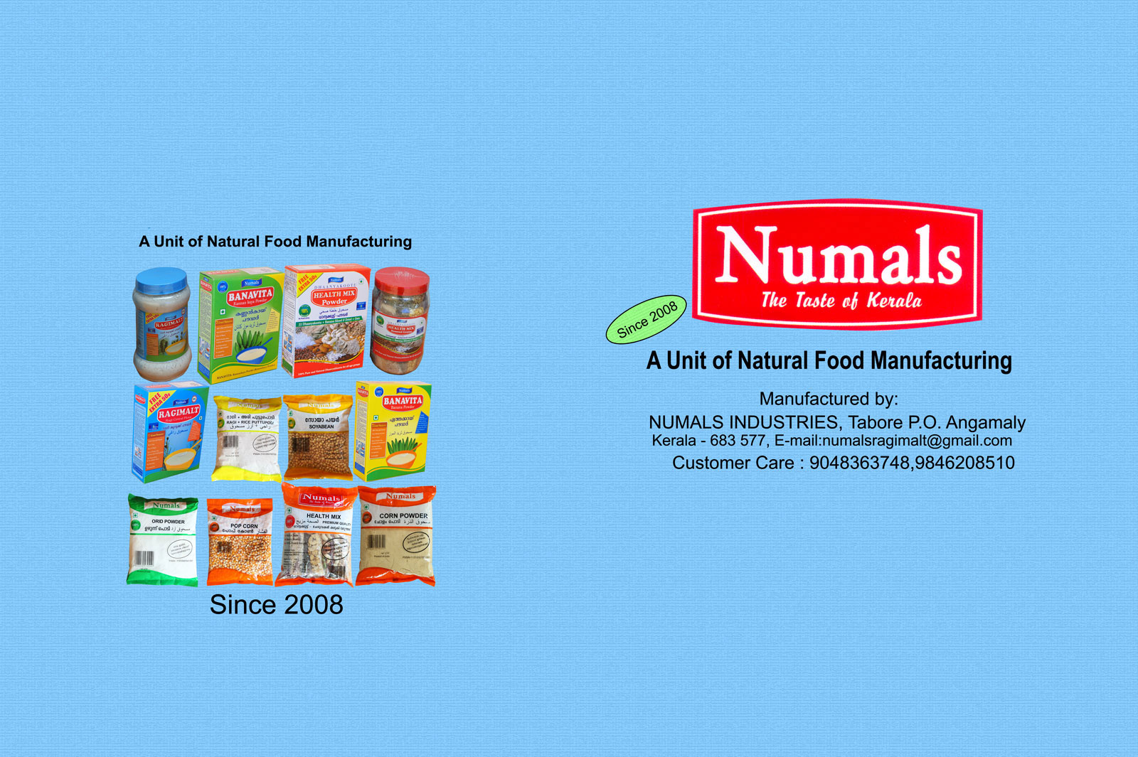 manufacturing food products kerala