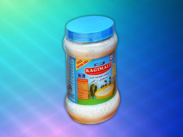 ragi cereal flour jar